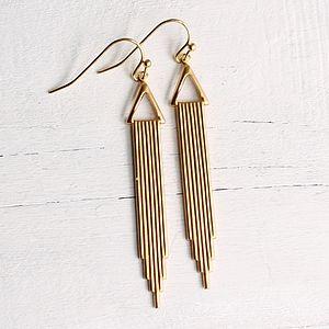 Deco Skyscraper Earrings - earrings