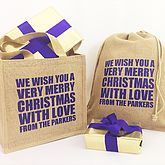 Personalised Christmas Gift Bag Sack - christmas decorations