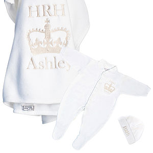 'HRH' Sleepy Three Piece Gift Set - maternity essentials