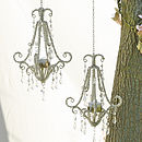 Large and small chandeliers