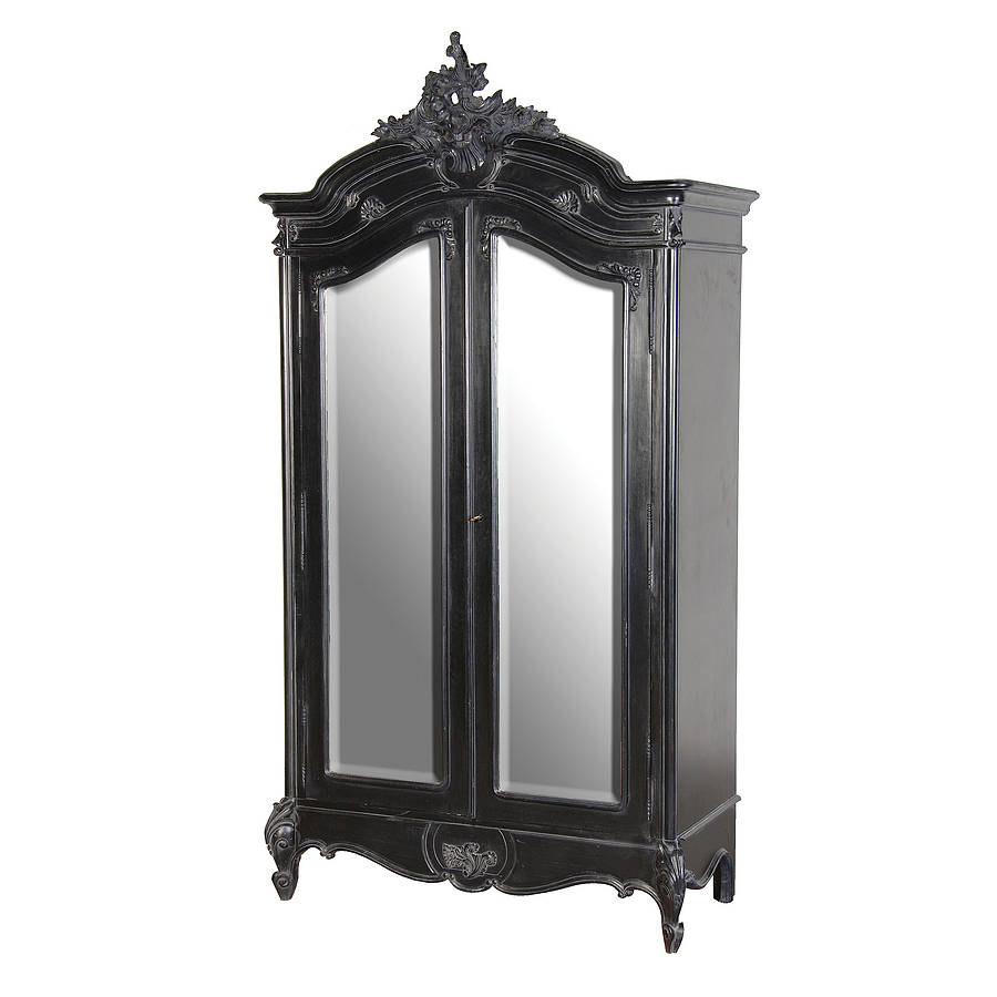 Black French Double Fronted Armoire By Out There Interiors ...