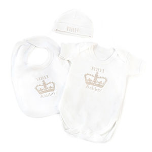 'HRH' Cosy Three Piece Gift Set - children's clothing
