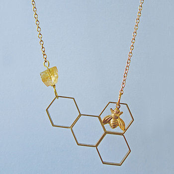 I'll Have A Bee Please Bob Honeycomb Necklace