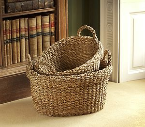 Oval Hogla Storage Baskets - baskets