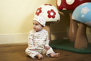 Organic Mushroom Forest Sleepsuit - summer sale