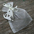 Personalised Heart With Wedding Favour Bag