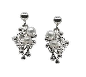Joy Pearl Cluster Earrings - earrings