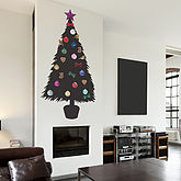 DIY Christmas Tree Wall Sticker - christmas decorations