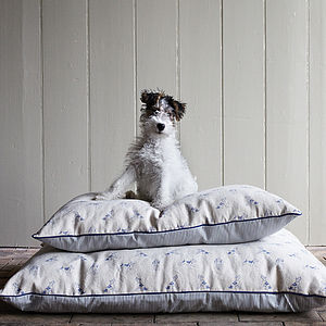 Bertie Print Dog Bed - dogs