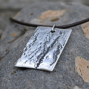 Handmade Silver Dog Tag Necklace - men's jewellery gifts