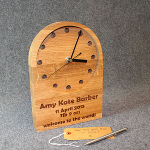Personalised New Baby Or Christening Clock - clocks