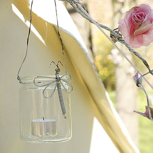 Dragonfly Votive - outdoor lights & lanterns