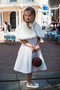 Faux Fur Cape - bridesmaid accessories