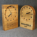 Personalised Wooden Engraved Oak Clocks