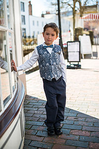 Boy's Liberty Print Waistcoat - party wear