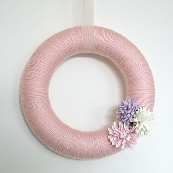 Woolen Spring Wreath