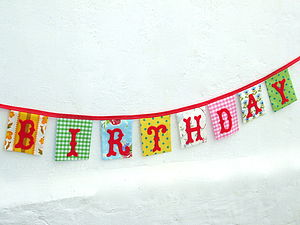 'Happy Birthday' Bunting - home accessories