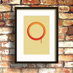 Orange Loop Two Print - contemporary art