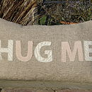 'Hug Me' Linen Cushion Cover
