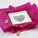 Koh Samui Map Heart Print