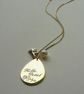 Hello Petal Necklace - charm jewellery
