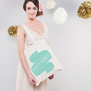 'Maid Of Honour' Tote Bag - bridesmaid gifts