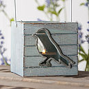 Wooden Bird Tea Light Lantern
