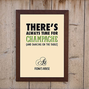 'Always Time For Champagne' Print