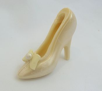 Small Single Chocolate Shoe Wedding Satin Bow