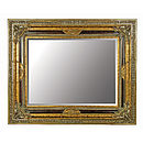 Large Gold Mirror With Black Details