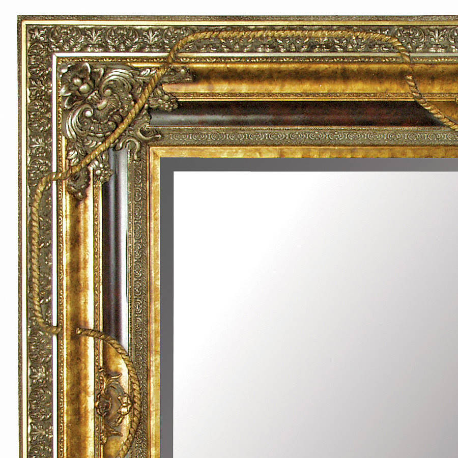 Large Gold Mirror With Black Details By Out There