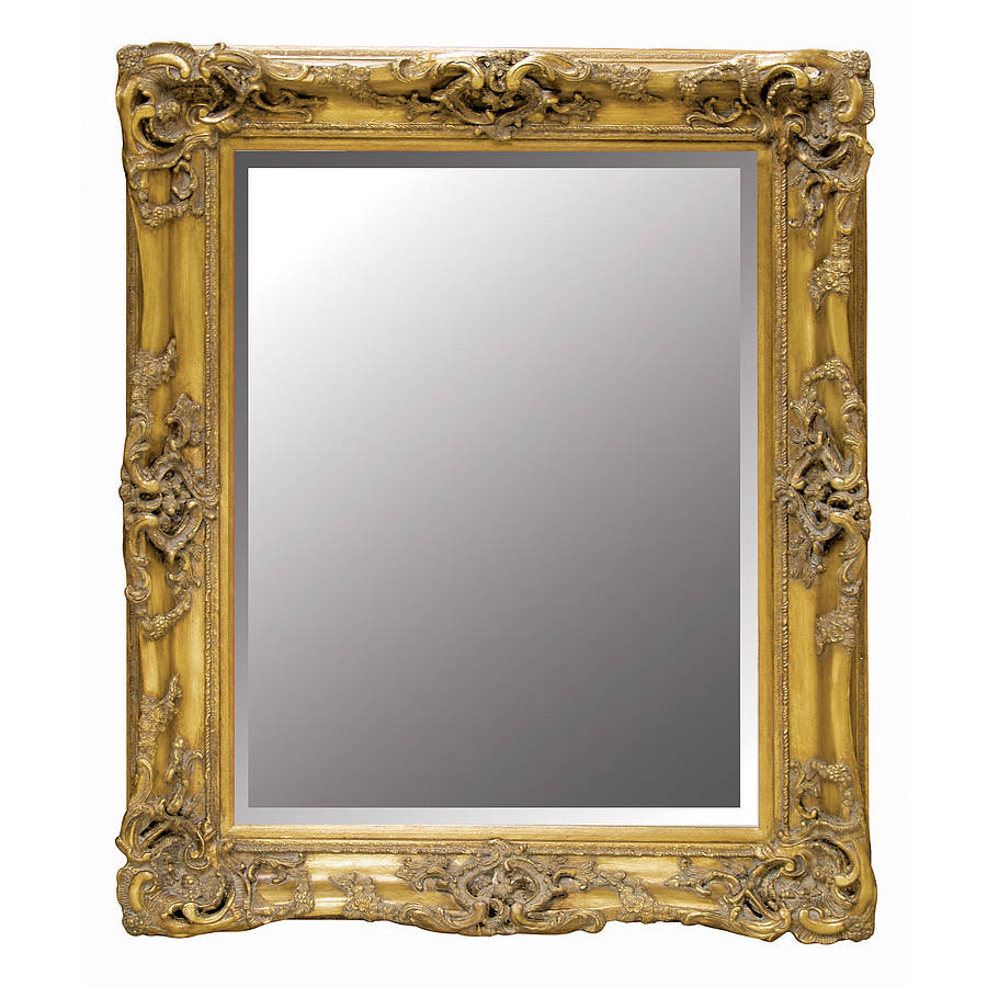 Decorative gold wall mirror by out there interiors for Fancy mirror