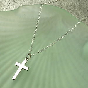 Silver Cross Necklace - shop by price