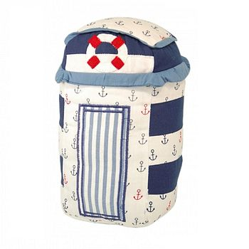 Nautical Fabric Beach Hut Door Stop