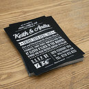 Rock N Roll Vintage Type Wedding Invitation