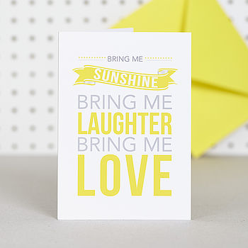 'Bring Me Sunshine' Birthday Card