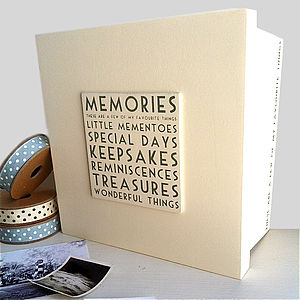 'Wonderful Things' Wooden Keepsake Box - albums & keepsakes