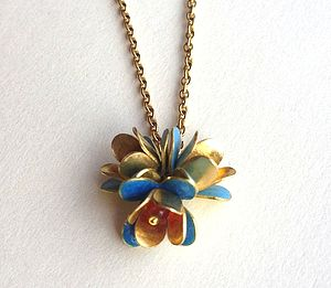 Enamel Flower Necklace - necklaces & pendants