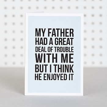 'Fatherly Love' Father's Day Card