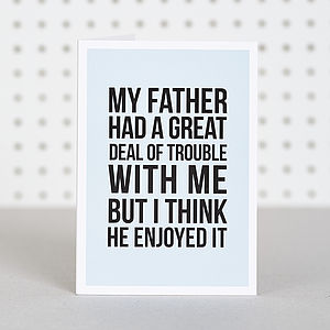 'Fatherly Love' Birthday Card