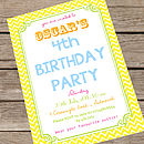 Personalised Children's Summer Party Invites