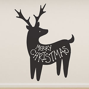 'Merry Christmas' Reindeer Wall Sticker