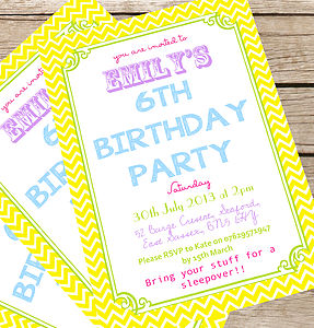 Personalised Children's Summer Party Invites - seasonal cards
