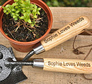 Personalised Trowel And Fork Gift Set - retirement gifts
