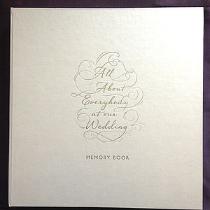 All About Everybody At My Wedding - albums & guest books