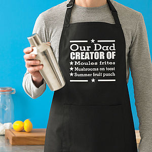 Personalised Men's Signature Dish Apron - aspiring chef