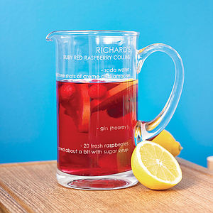 Personalised Recipe Cocktail Jug - jugs & bottles