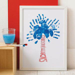 Personalised Trunk Hand Print Tree - the best daddy in the universe