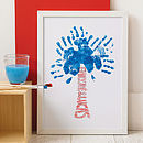 Personalised Trunk Hand Print Tree