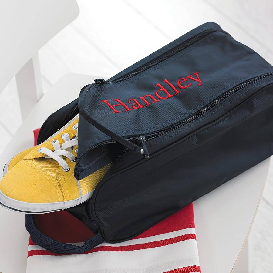 personalised sports shoe bag by big stitch